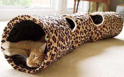 игровой тeннель для кошек горизонтальный